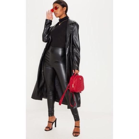 ac019d0c15 PrettyLittleThing Black Faux Leather Leggings
